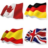 Wavy Flags Stock Photo
