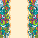 Wavy floral sketch template Stock Photography