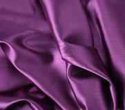Wavy folded satin silk Stock Photos