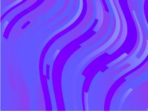 Wavy geometric background. Different shades of purple, pink, blue. Bright rainbow color. Scalable vector graphics. Trendy gradient shapes composition stock illustration