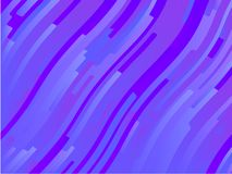 Wavy geometric background. Different shades of purple, pink, blue. Bright rainbow color. Scalable vector graphics. Trendy gradient shapes composition royalty free illustration