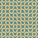 Wavy Geometric Lines Irregular Retro Grungy Blue Tan Pattern. Vector Seamless Wavy Geometric Lines Irregular Retro Grungy Blue Tan Pattern Stock Photography