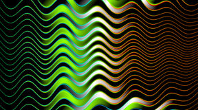 Wavy Glowing background illustration Stock Photography