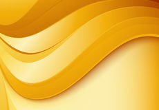 Wavy gold background Royalty Free Stock Photography