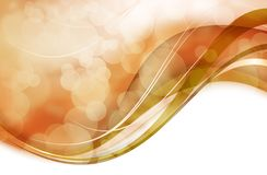 Wavy Golden Bokeh Royalty Free Stock Photography