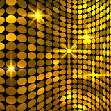 Wavy golden mosaic background Stock Photo