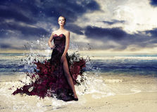 Wavy gown Royalty Free Stock Photo