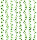 Wavy green pattern Stock Image