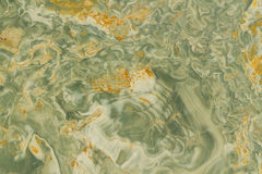 Wavy Green and Yellow Granite Royalty Free Stock Photo