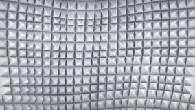 Wavy grey 3D pattern. Abstract render Stock Image