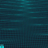 Wavy Grid Background. 3d Abstract Vector Illustration Royalty Free Stock Image