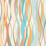 Wavy grid seamless pattern. vector illustration