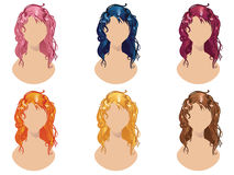 Wavy Hair Style Stock Images