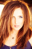 Wavy Hair Woman Royalty Free Stock Photography