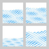 Wavy Halftone Background Set For Text. Card, Banner Template. Ve Stock Photography