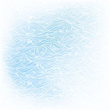 Wavy hand-drawn white pattern on blue background Stock Images
