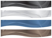Wavy Headers/Banners - Neutrals. 4 neutral headers/banners for use in documents or on the web Royalty Free Stock Photo