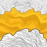Wavy Honey and White Lines Design stock image
