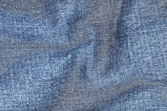 Wavy on jeans texture for pattern and background Stock Photography
