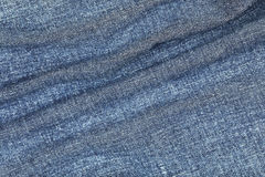 wavy on jeans texture for pattern and background Royalty Free Stock Image