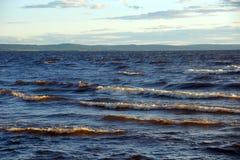 Wavy lake landscape Stock Image
