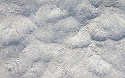 Wavy limestone textured deposits in Pamukkale, Turkey Stock Image