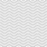Wavy line black-white seamless pattern Stock Images