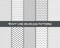 Wavy line seamless patterns Stock Photo