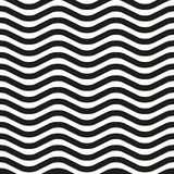 Wavy line zebra seamless pattern. Background of black and white wavy lines, color zebra. Seamless pattern, vector illustration Stock Photo