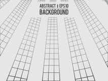 Wavy linear monochrome procedural terrain. Striped digital extraterrestrial landscape. Trendy wireframe cybernetic. Mountains. Modern illustration for a stock illustration