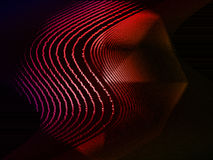 Wavy Lines. Wavy red parallel lines on black background stock illustration