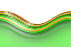 Wavy lines background border. Green border from colorful wavy lines Stock Image