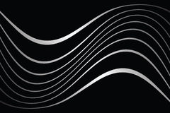 Wavy lines on black background. Stock Images