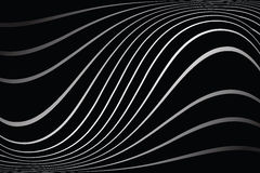 Wavy lines on black background. Stock Image