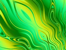 Wavy Lines in Green And Yellow Royalty Free Stock Photography