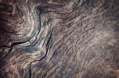 Wavy lines on old wood Stock Photography