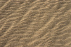 Wavy Lines of Sand Grains Stock Photo