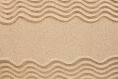 Wavy lines in the sand Royalty Free Stock Images