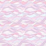 Wavy lines seamless background.Vector set Stock Photos