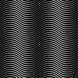Wavy lines seamless pattern. Stock Image