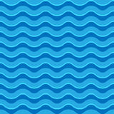 Wavy Lines Seamless Repeatable Pattern In Aqua, Blue Colors Royalty Free Stock Photos