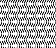 Wavy Lines Seamless Vector Abstract Background. Black And White Wavy Lines Abstract Pattern. Wavy Lines Seamless Vector Abstract Background. Black And White Wavy stock illustration