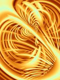 Wavy Lines Texture in Gold. An abstract texture art design of lines and swoosh patterns in gold colors Royalty Free Stock Images