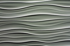 Wavy lines in white and gray Royalty Free Stock Photo