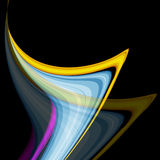 Wavy Lines With Copy Space. Eps10 Royalty Free Stock Photos