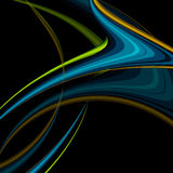 Wavy Lines With Copy Space. Eps10 Stock Image