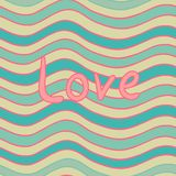 Wavy Love seamless pattern Royalty Free Stock Photography