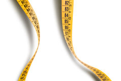 Wavy measuring tape Royalty Free Stock Images