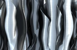 Wavy metal abstract background Royalty Free Stock Photography