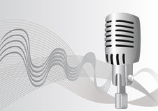 Wavy Microphone Stock Images
